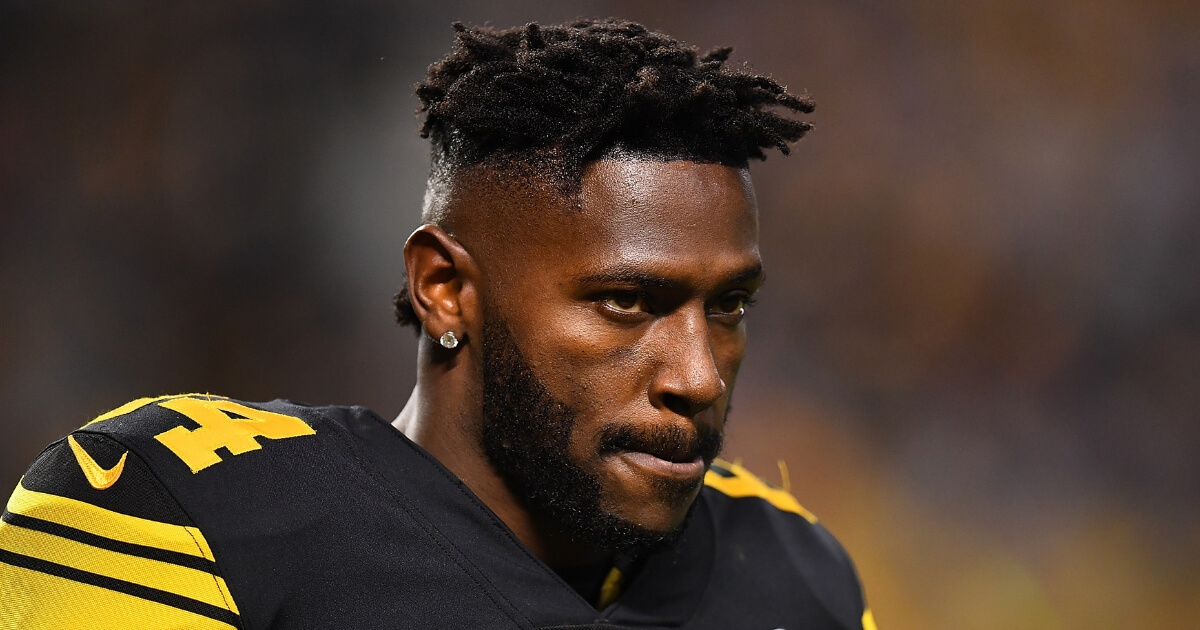 Antonio Brown of the Pittsburgh Steelers looks on during a Dec. 16 game against the New England Patriots at Heinz Field.