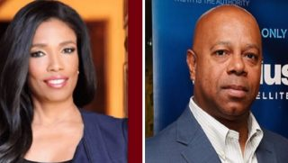 CNN analyst Areva Martin, left; and Fox Nation and Sirius XM host David Webb, right.
