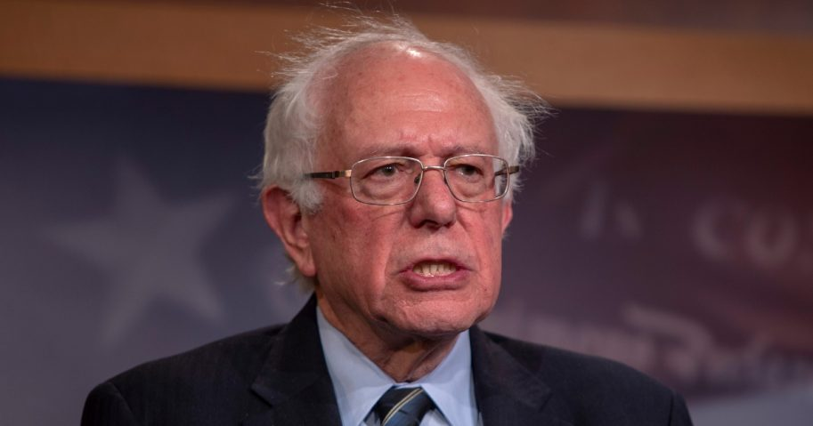 Sen. Bernie Sanders speaks about the bill to end the U.S. support for the war in Yemen on Dec. 13, 2018, in Washington, D.C.