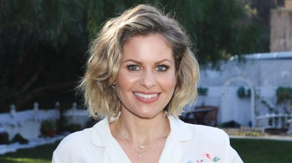 Actress Candace Cameron Bure visits Hallmark's 'Home & Family' at Universal Studios Hollywood on Jan. 10, 2019, in Universal City, California.