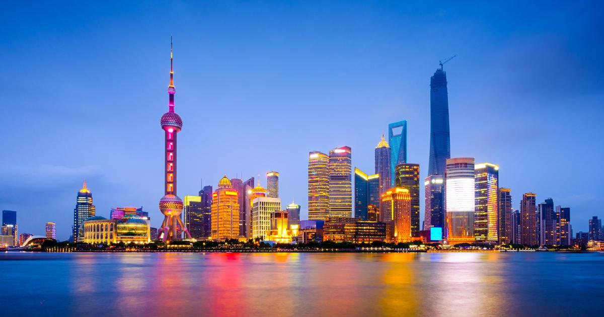 Chinese city skyline.