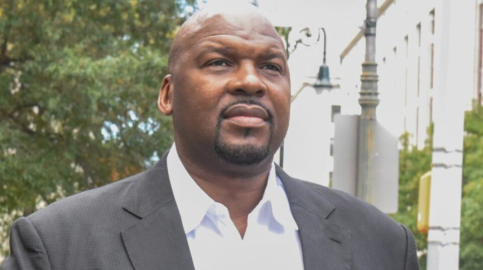Chuck Person is seen after leaving the Federal Courthouse in Manhattan, New York, on Oct. 10, 2017.