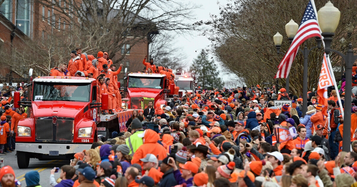 Clemson Celebrates Title in Style, Complete with Doughnuts and Cigars