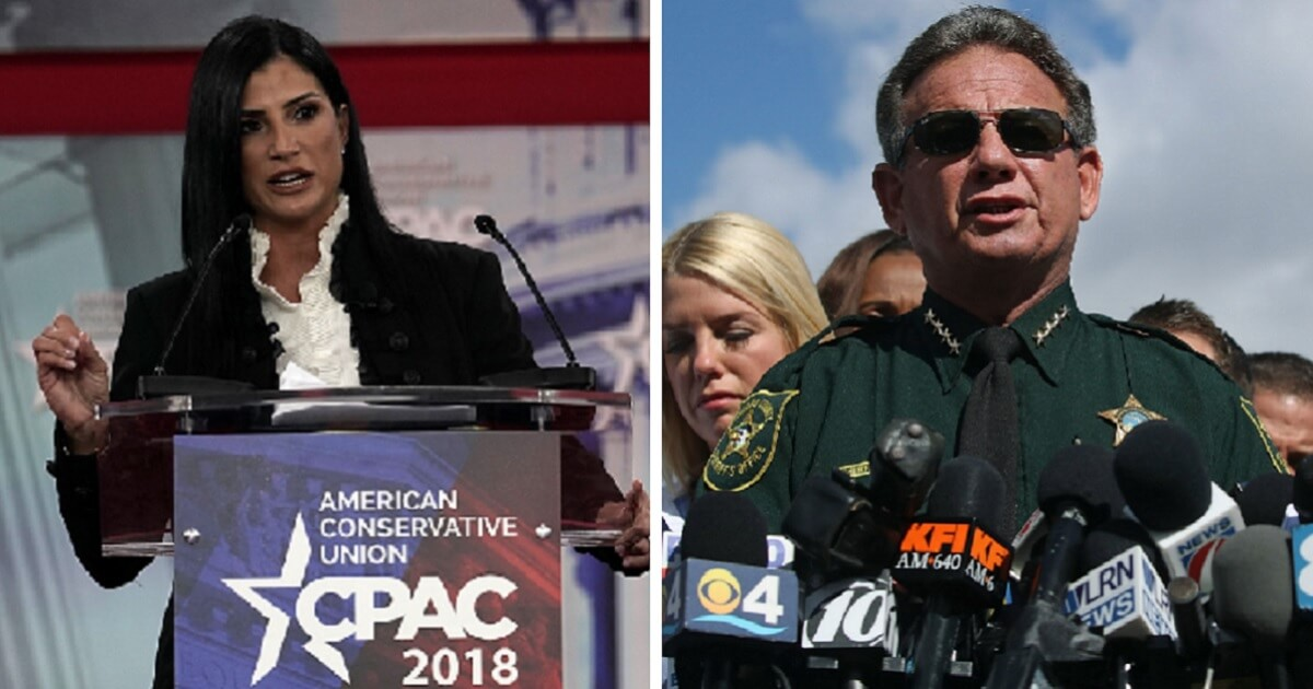 NRA spokeswoman Dana Loesch, left; and suspended Sheriff Scott Israel, right.
