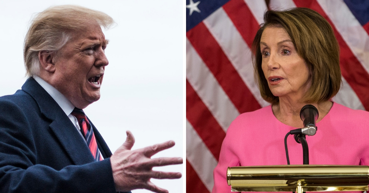 Trump Slams Pelosi for Being 'Controlled by the Radical Left'