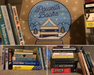 The photos first posted to the Page Turner by BuzzFeed Facebook Group showing the results of her first trip to Powell's.