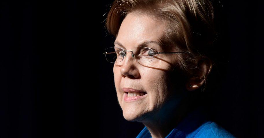 Sen. Elizabeth Warren of Massachusetts speaks at the Alejandro Tapia y Rivera Theater in San Juan, Puerto Rico, on Tuesday.