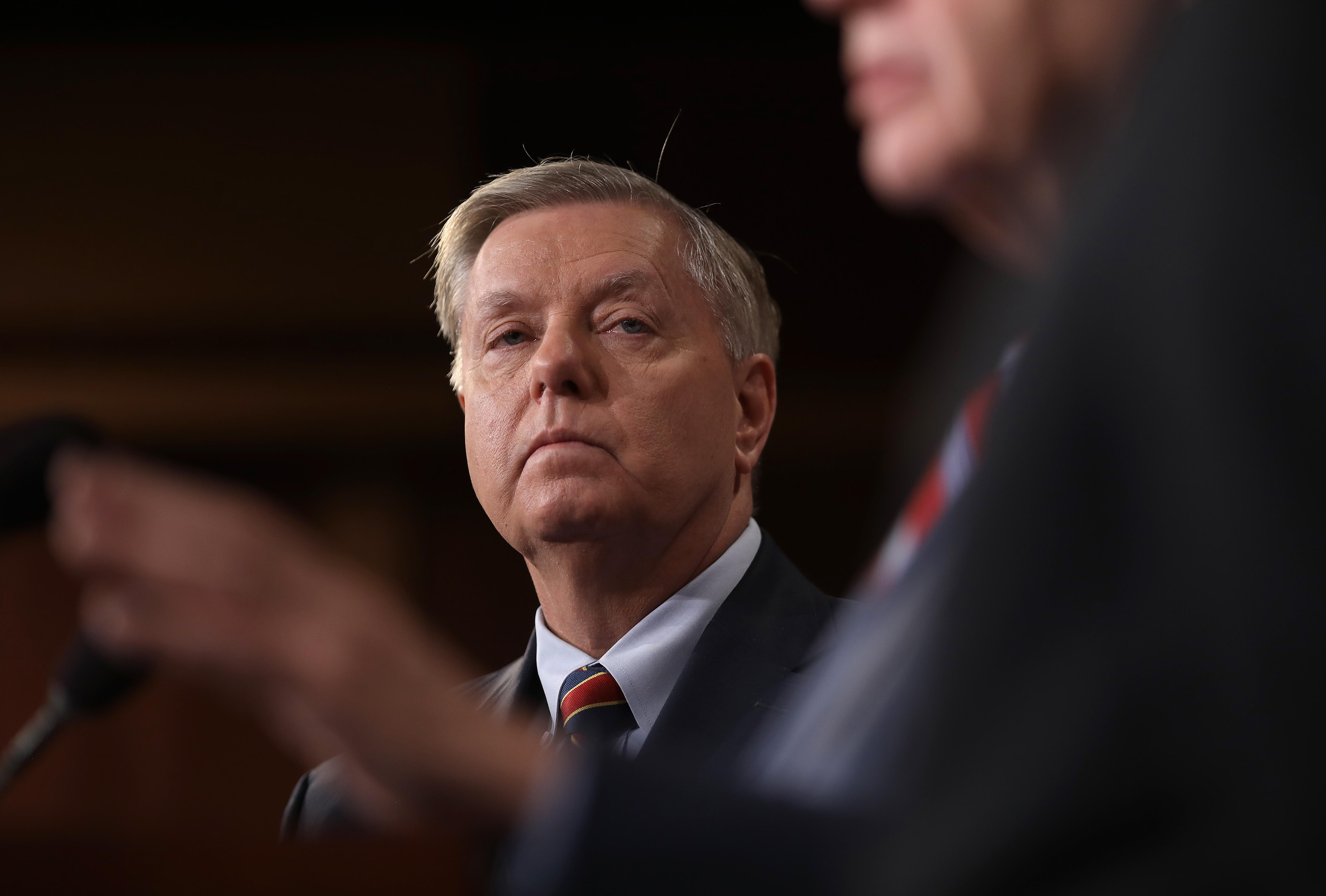 Lindsey Graham listens