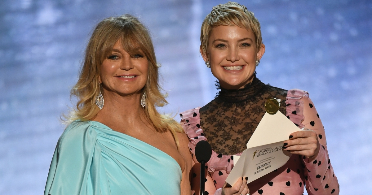 Actors Goldie Hawn and Kate Hudson speak onstage during the 24th Annual Screen Actors Guild Awards at The Shrine Auditorium on Jan. 21, 2018, in Los Angeles, California.