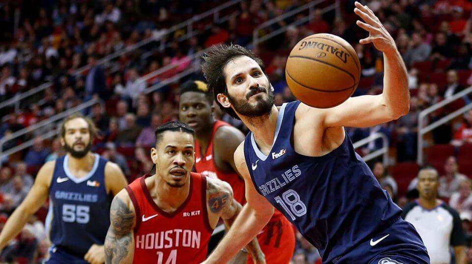 Omri Casspi of the Memphis Grizzlies loses control of the ball in Monday's game against the Houston Rockets at Toyota Center.