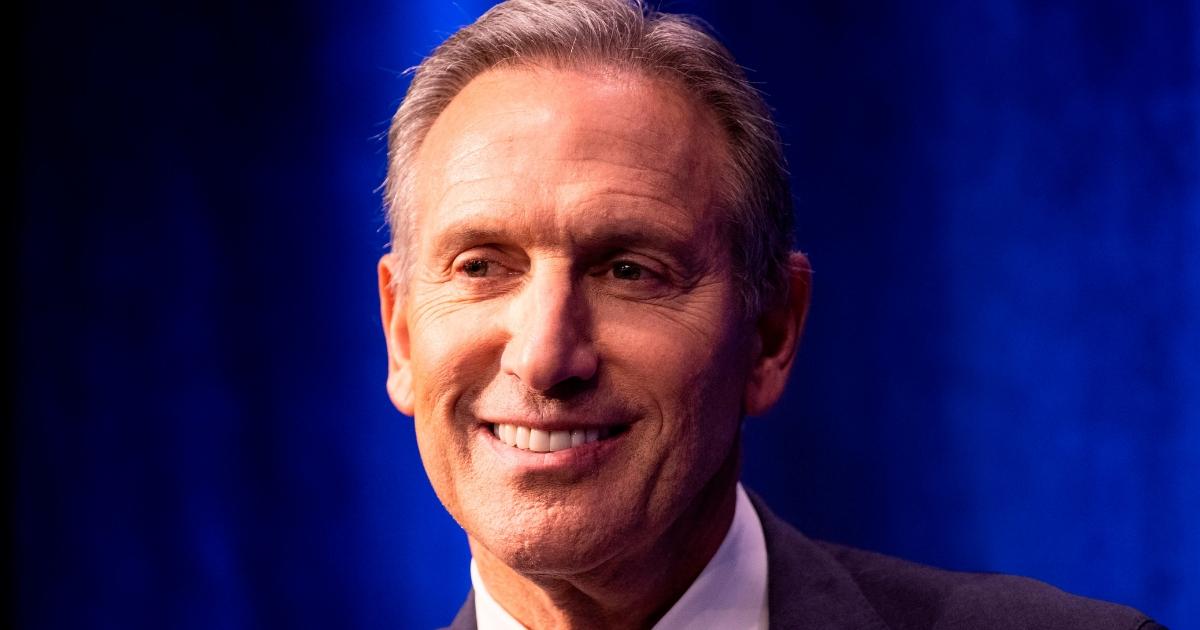 Former Starbucks CEO Howard Schultz speaks Monday in New York City.