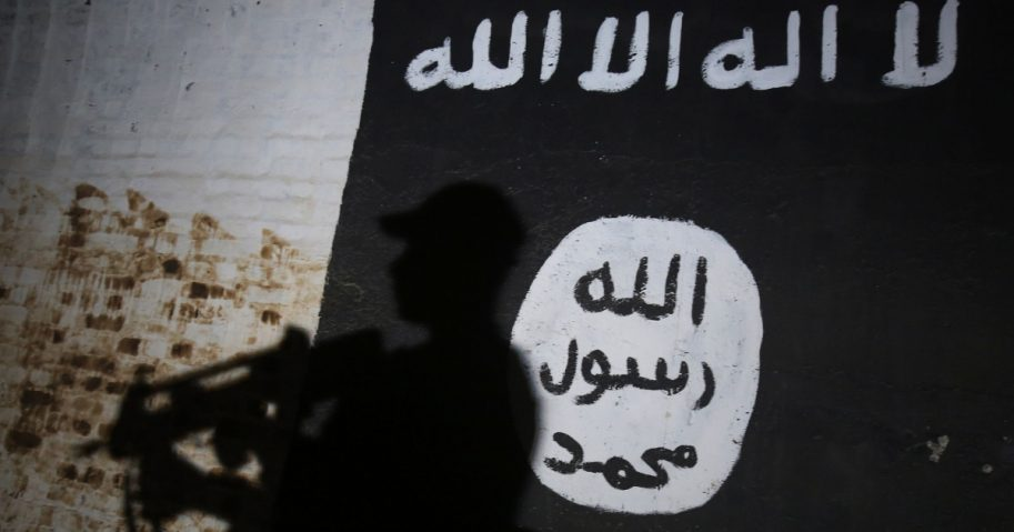 Isis Flag on Wall