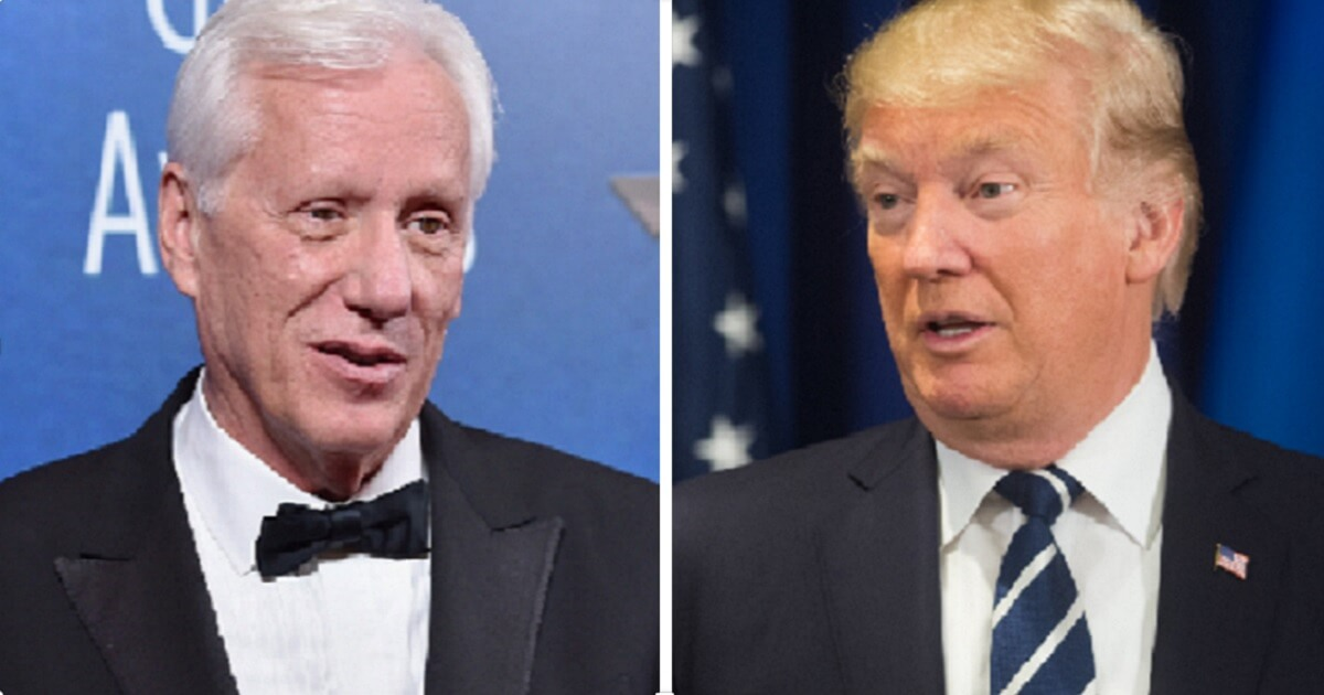 James Woods, left; and President Donald Trump.