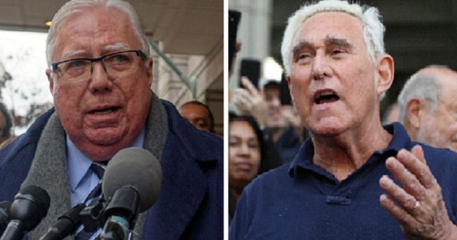 Jerome Corse, left; and Roger Stone, right.