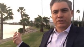 Jim Acosta with the Rio Grande in the background.