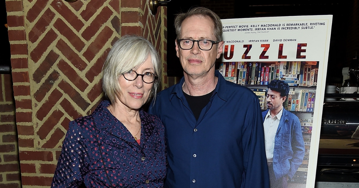 """Jo Andres and Steve Buscemi attend the """"Puzzle"""" New York Screening After Party at Oyster Bar at The Roxy Cinema on July 24, 2018, in New York City."""