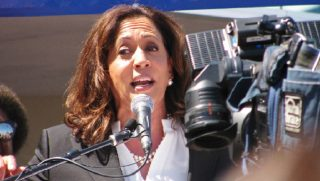 California Sen. Kamala Harris in a 2017 file photo.