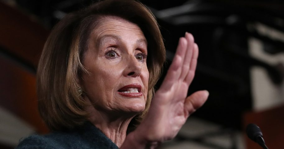 Speaker of the House Nancy Pelosi answers questions during a news conference Thursday in Washington.