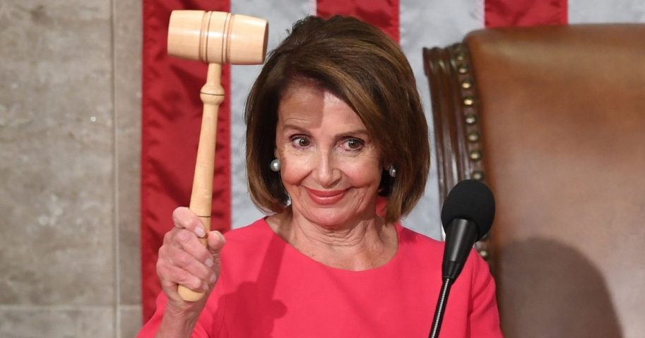 House Speaker Nancy Pelosi holds the gavel Thursday during the opening session of the 116th Congress at the Capitol in Washington.