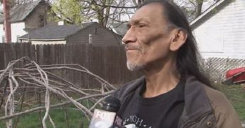 Native American activist Nathan Phillips is pictured from 2015, when he accused Eastern Michigan University students of harassing him because of his heritage.