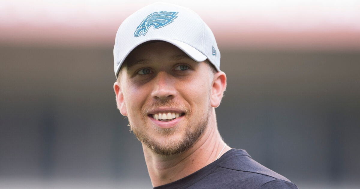 Quarterback Nick Foles of the Philadelphia Eagles looks on prior to a preseason game last August at Lincoln Financial Field.