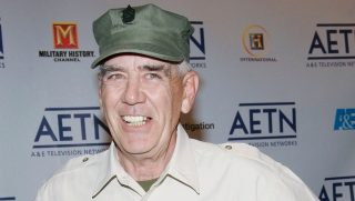 Actor R. Lee Ermey arrives to A&E Television Networks Upfront celebration held at Rockefeller Center April 21, 2005, in New York City.