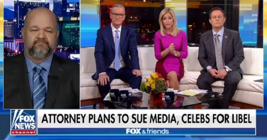 "Attorney Robert Barnes speaks with the crew of ""Fox & Friends."""