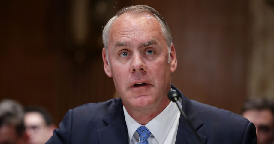 U.S. Interior Secretary Ryan Zinke testifies before the Senate Appropriations Committee's Interior, Environment, and Related Agencies Subcommittee in the Dirksen Senate Office Building on Capitol Hill May 10, 2018, in Washington, D.C.