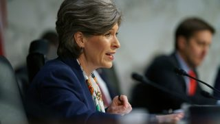 Sen. Joni Ernst, R-Iowa, speaks during a Senate Judiciary Committee hearing Tuesday on Capitol Hill in Washington.