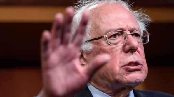 Sen. Bernie Sanders of Vermont speaks at the U.S. Capitol on Dec. 13.