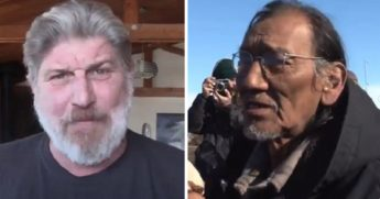 Navy SEAL veteran Don Shipley, left; and Native American activist Nathan Phillips, right.