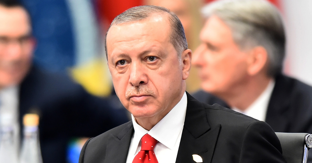 President of Turkey Recep Tayyip Erdogan looks on during the opening day of Argentina G20 Leaders' Summit 2018 at Costa Salguero on Nov. 30, 2018, in Buenos Aires, Argentina.