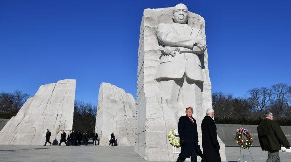 Trump MLK Memorial