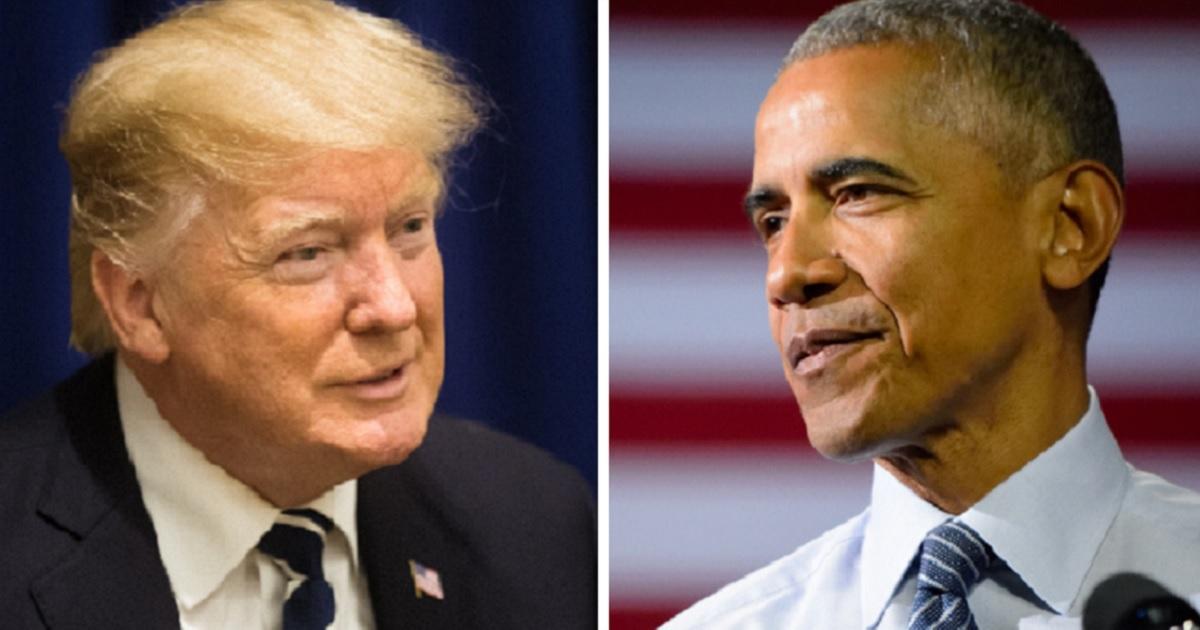 President Donald Trump, left; and former President Barack Obama, right.