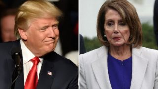 President Donald Trump, left; and House Speaker Nancy Pelosi