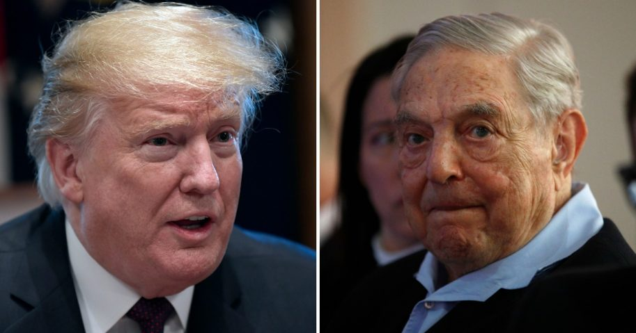 U.S. President Donald Trump and billionaire George Soros