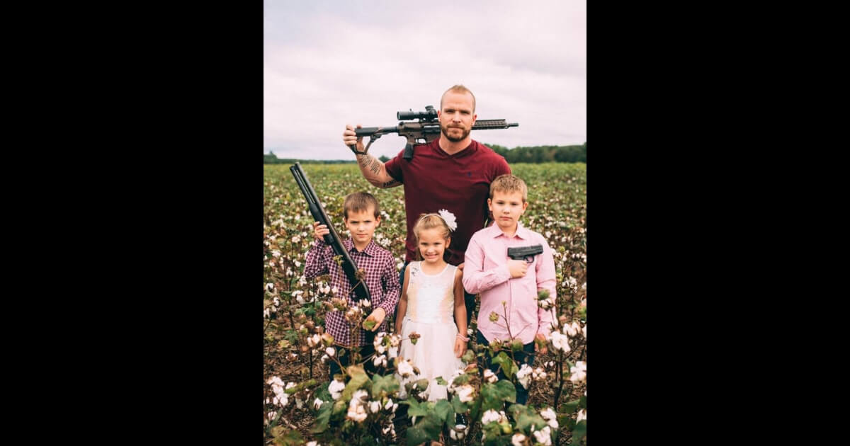 Army Vet Dad Posts Awesome Family Photo: 'Hey Gillette, Does This Offend You?'