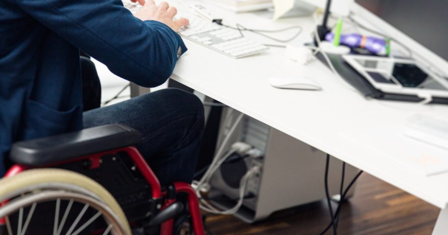 Working in Wheelchair