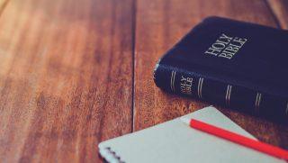 Bible on desk