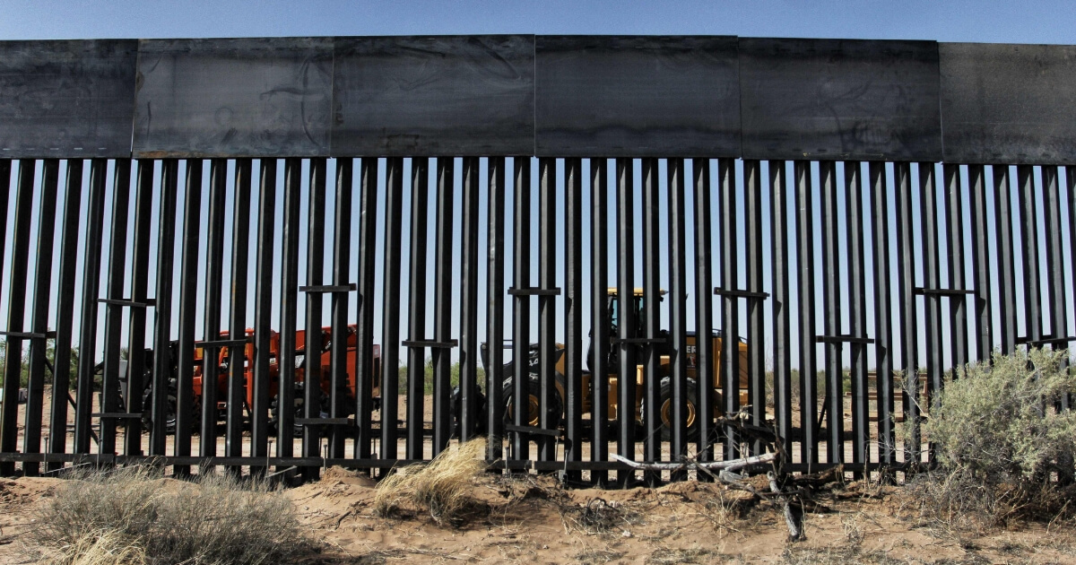 U.S. workers are photographed during construction of 32km of the border wall by order of U.S. President Donald Trump on the border between Ciudad Juarez, Chihuahua state, Mexico and Santa Teresa, New Mexico state, U.S., on April 17, 2018.