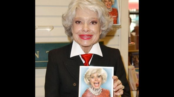 Actress Carol Channing poses for a photograph prior to signing copies of her new book 'Just Lucky, I Guess' at Brentano's Book Shop on Oct. 26, 2002 in West Hollywood, California.