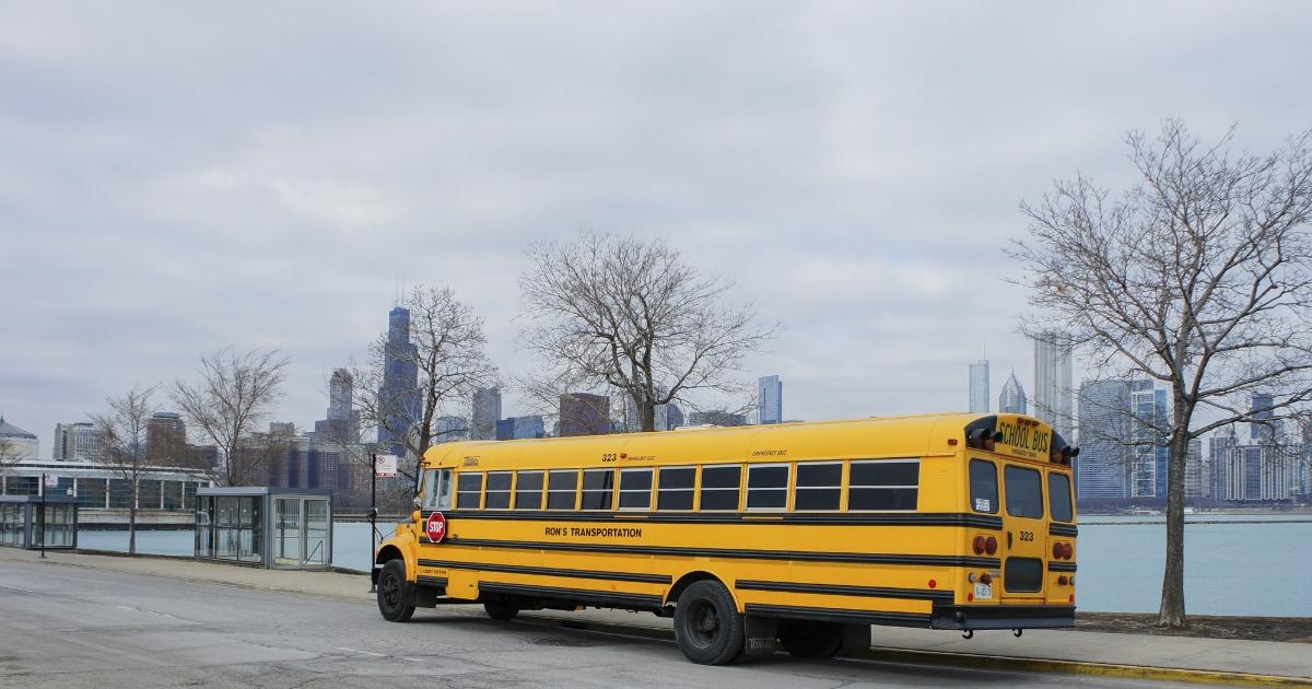 School bus in Chicago