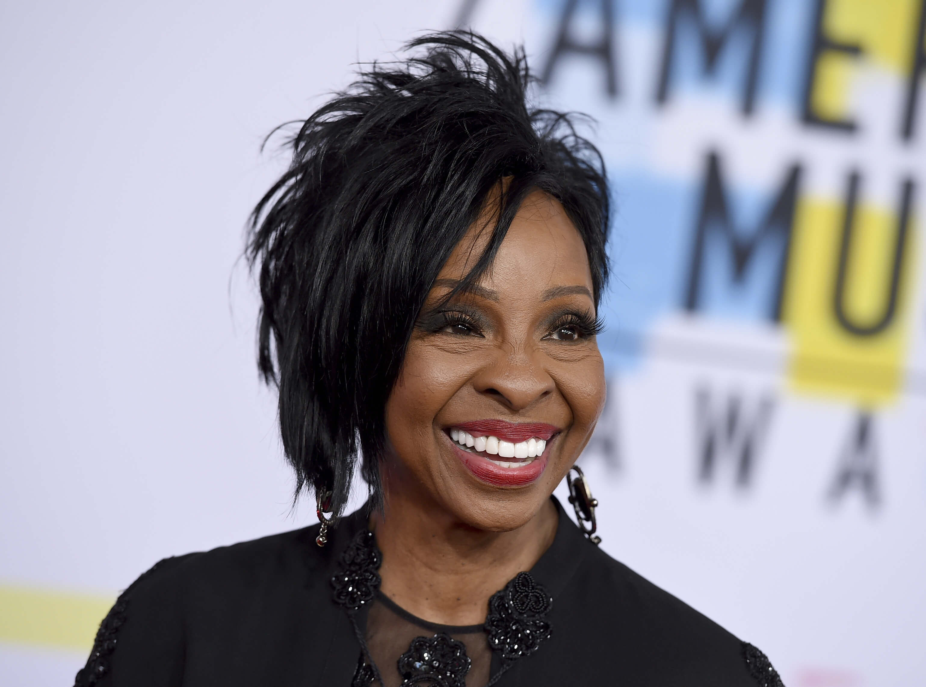 Gladys Knight arrives at the American Music Awards in Los Angeles on Oct. 9, 2018.