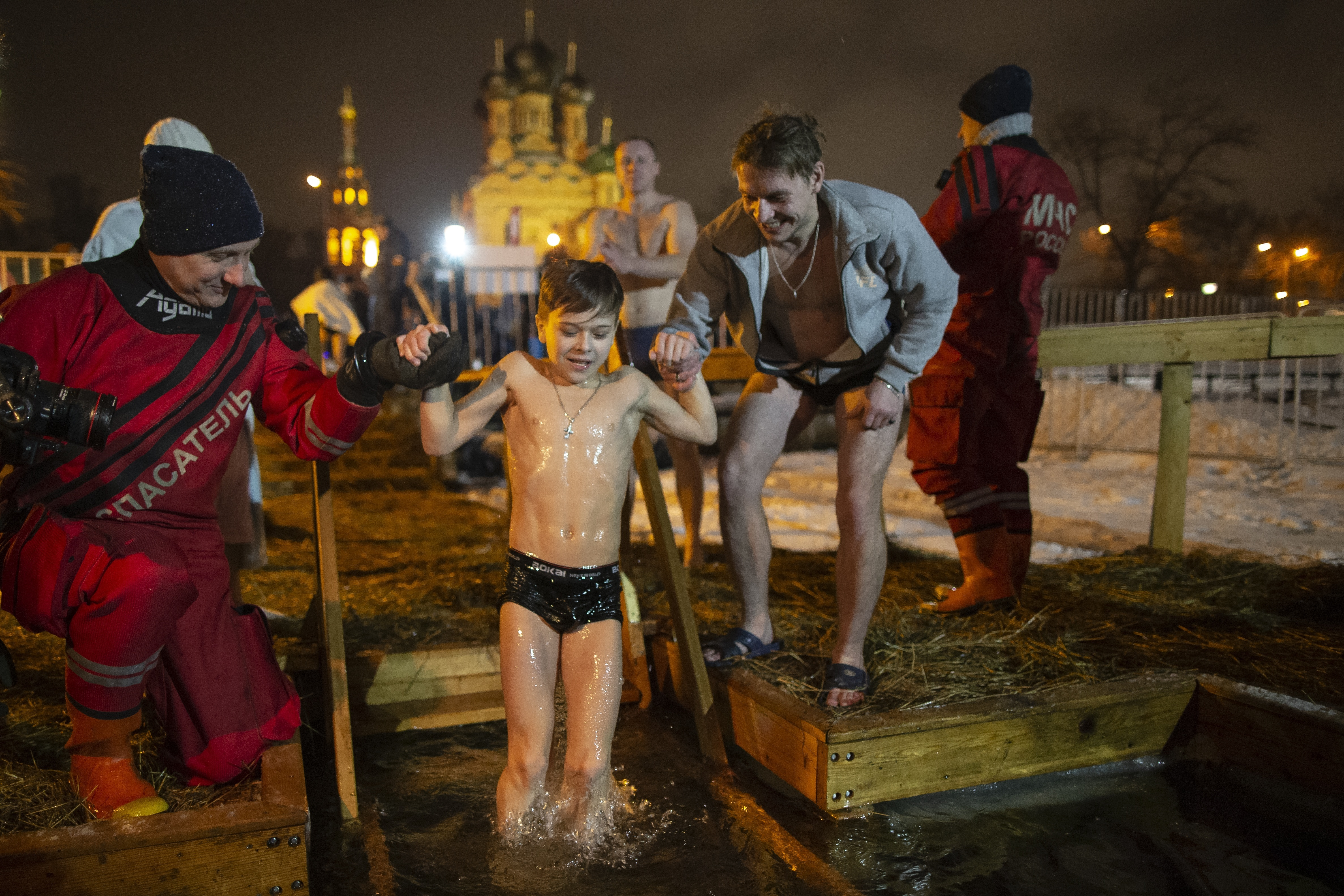 a974c3988 Russians plunge into icy waters to mark feast of Epiphany - General ...