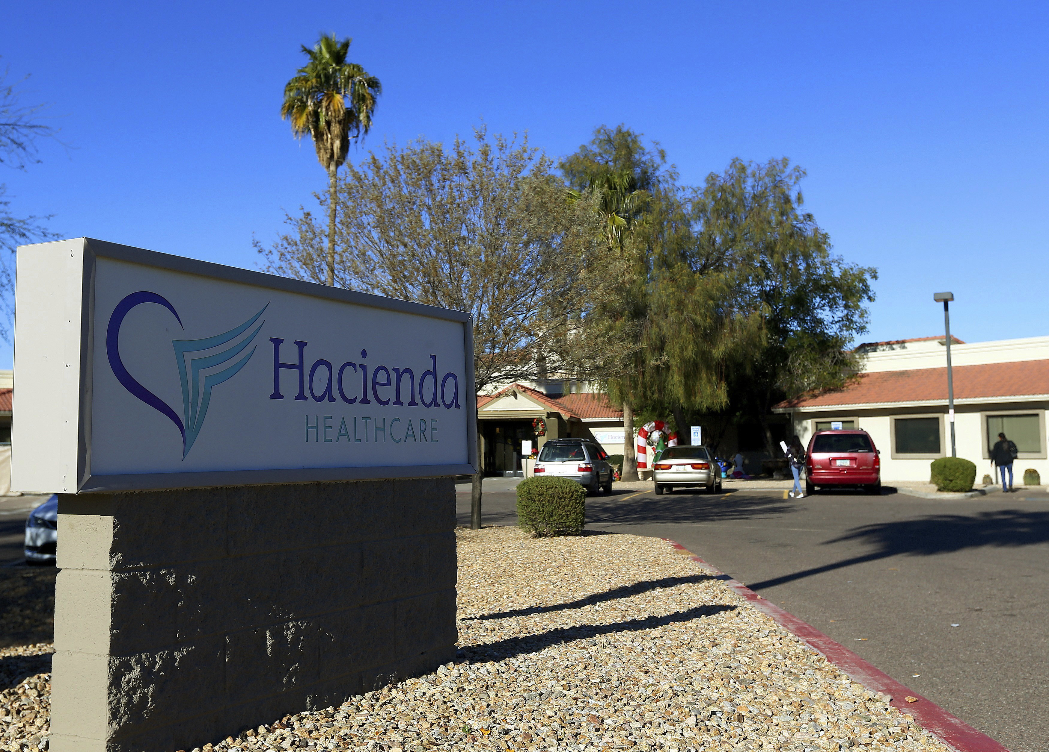 This Friday, Jan. 4, 2019, file photo shows Hacienda HealthCare in Phoenix. Two doctors who cared for an incapacitated woman who gave birth as a result of a sexual assault are no longer providing medical services at the long-term care center in Phoenix, Hacienda HealthCare said Sunday, Jan. 20.