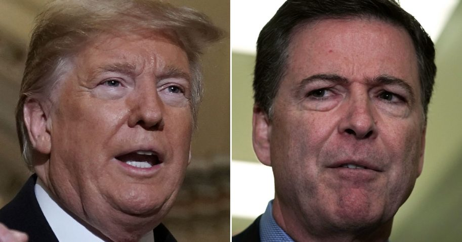President Donald Trump and Former FBI Director James Comey