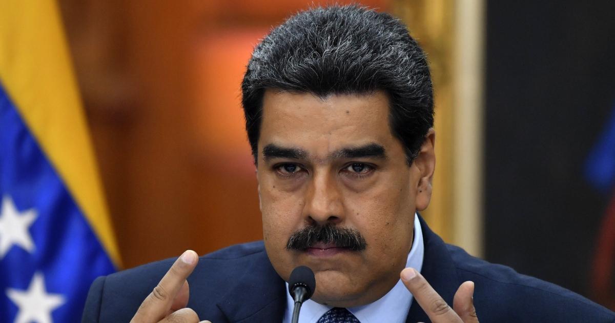 Venezuela's President Nicolas Maduro speaks during a press conference.