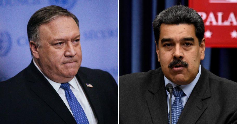 Secretary of State Mike Pompeo / Venezuelan President Nicolas Maduro