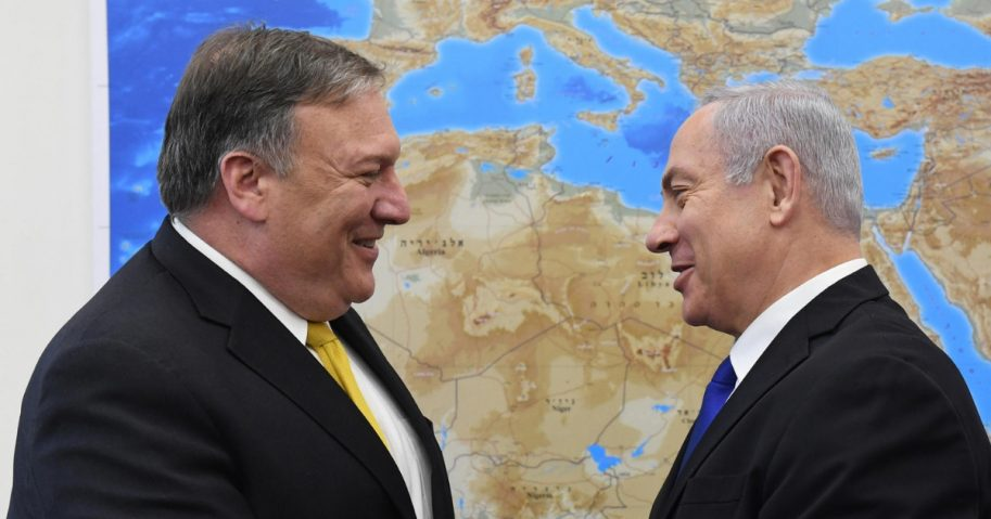 Secretary of State Mike Pompeo meets Israel's Prime Minister Benjamin Netanyahu.