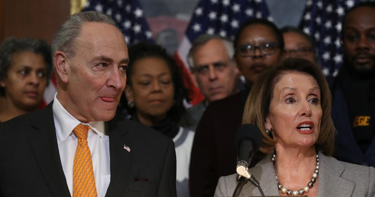 Speaker of the House Nancy Pelosi and Senate Democratic Leader Chuck Schumer.